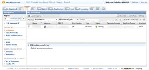 Amazon EC2の画面