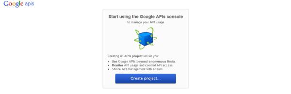 Google APIs console画面