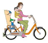 自転車3人乗り チャイルドシート+おんぶ紐