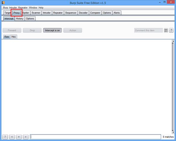 Burp ProxyでiPadのパケット情報をキャプチャ