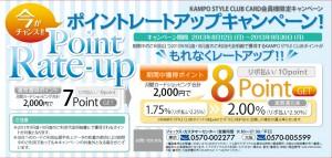 漢方スタイルクラブカードのレートアップキャンペーン
